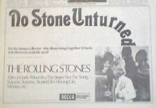 "ROLLING STONES No Stone Unturned 1973 UK  Press ADVERT 12x8"""