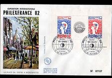 FRANCE / EXPOSITION PHILEXFRANCE 82 / BLOC FEUILLET Enveloppe Oblitérée 14 Juin