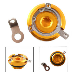 Motorcycle Engine Oil Filler Cap For BMW 2009-2013 12 S1000R Gold Size M24 x 2.0