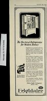 1922 Frigidaire Electrical Refrigerators Vintage Print Ad 5696
