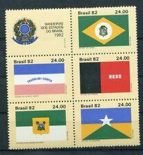 447915) Brasilien Nr. 1937-1941 **, Flaggen