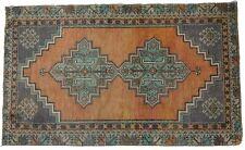 Free Shipping! Vintage Turkish Oushak Runner Rug Handwoven Natural Wool 2'9x4'7