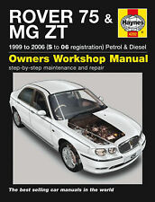 HAYNES MANUAL ROVER 75 & MG ZT 99-06 S TO 06 REGISTRATION  PETROL AND DIESEL