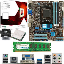Amd X4 Core Fx-4300 3.8 ghz + Asus M5a78l-m Usb3 + 4gb Ddr3 1333