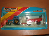 1983 VINTAGE LESNEY MATCHBOX TRACTOR & OPEN CART DIE CAST VERY RARE TP-108 MOC