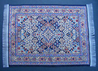 12:Scale 25cm x 17.5cm Woven Turkish Rug Doll House Miniature Carpet P6L