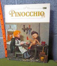 PINOCCHIO puppet storybook 1971 Tadasu Izawa vtg art Shigemi Hijikata import