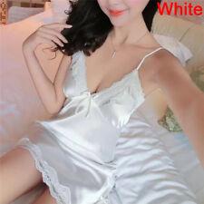 Lencería sexy mujer vestido de seda bata camisón camisón de dormir camisónRS