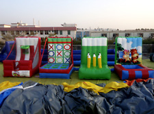 4 Inflatable Carnival Redemption Games Commercial Grade Obstacle Bounce House