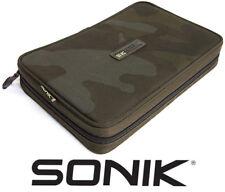 Sonik SK-TEK Rig And Bits Wallet Carp Fishing Rigid Siff Hair Rig Pouch Camo