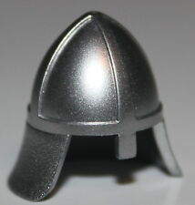 Lego Castle Metallic Silver Helmet w/ Neck Protector NEW