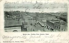 c1906 Postcard; Hewitt Ave. Looking West, Everett WA Snohomish County Posted