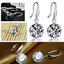 Elegant Fashion 925 Sterling Silver Women Crystal Rhinestone Ear Stud Earring K8