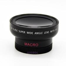 HD 37mm 0.45x Wide Angle Macro Lens Macro Conversion Lens for Canon Nikon Sony