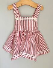 Ralph Lauen Baby Pink Striped Dress Top Bloomers Set Size 9-12 Months BNWOT