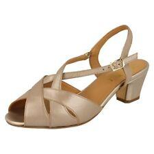 Suede Upper Sandals No Pattern Block Heels for Women