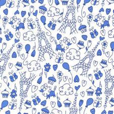 """MICHAEL MILLER """"PETITE PARIS"""" Blue by the yard"""