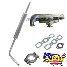 MUFFLER ASSEMBLY, CLAMP, EXHAUST MANIFOLD & GASKETS Ford Tractor 2N 8N 9N 8N5230