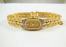 Lassale by Seiko Gold Tone Metal 2E20-2680 w/ Gemstones Sample Watch NON-WORKING
