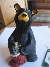 "New Big Sky Carvers Bearfoots Bears #50424 "" Travis Stocking "" Collectible"