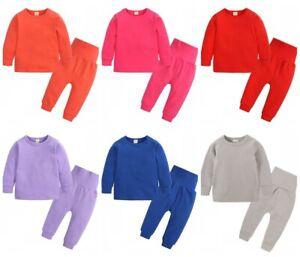 Kids Boys Girls 2Pcs Outfits Tracksuit Tops Pants Set Children Sport Lounge Wear