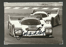 HOCKENHEIM 1985 PORSCHE 962 HAND SIGNED JOCHEN MASS ORIGINAL WERKFOTO PHOTOGRAPH