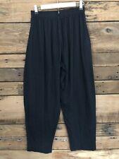 Vtg 80's California Crazee Wear Pants Work Out Gym Men's M Black Gray Geometric