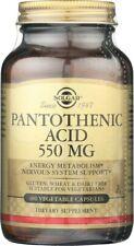 Solgar Pantothenic Acid 550mg 100 Vegetable Capsules