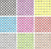 36 Gewürz Aufkleber selbstklebend Gewürzetiketten transparent/weiß Wasserfest 01