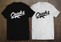 Crooks and Castles Band Logo Men's Black T-Shirt Size S-2XL