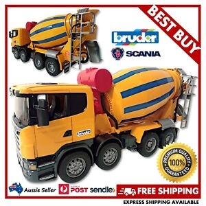 BRUDER Scania R-Series Cement Mixer Truck 1:16 #03554 -EXCELLENT USED, FREE POST