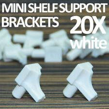 20 X WHITE SHELF SUPPORT BRACKET PIN KITCHEN UNIT CABINET CUPBOARD SAFETY PEGS