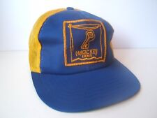 Vintage Magic Key Inns Patch Hat Blue Yellow Snapback Trucker Cap