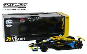Zach Veach 2020 11076 Greenlight 1/18 #26 Gainbridge Indy Car FREE SHIP