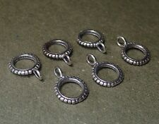 Charm Holder set of 6 Sterling Silver Pendant Bail with Ring Finding