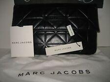 $395 NEW Marc Jacobs Eugenie Patchwork Navy Leather Clutch Evening Bag Handbag