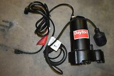 "DAYTON 4HU67 1/4 HP 1-1/2"" Submersible Sump Pump 115V Tether"