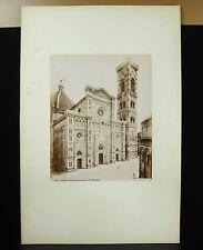 Firenze Florence tirage albuminé Santa Maria del Fiore Italia 1880 photographie