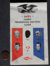1972 Nixon-McGovern Presidential Election candybar booklet-M&M's-Snickers-Mars!