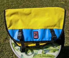Chrome Industries Citizen Yello & Blue Large Bike Messenger Crossbody Bag Vtg