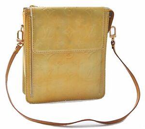 Louis Vuitton Monogram Vernis Mott Shoulder Cross Body Bag M91059 Yellow D4731