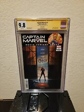 Captain Marvel #1 photo cover variant CGC 9.8 SS Signed by Brie Larson