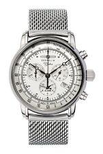 Runde Zeppelin Armbanduhren mit Chronograph und Glanz