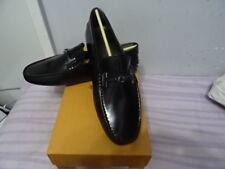 Tod'S Black loafers, torque t leather new grommets Shoes Sz UK 7/EU 41