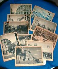 9 VINTAGE BLACK & WHITE & COLORED POSTCARDS SALERNO  ITALY UNPOSTED 1930s