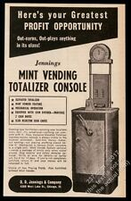 1941 Jennings Mint Vending Totalizer Console slot machine photo trade print ad