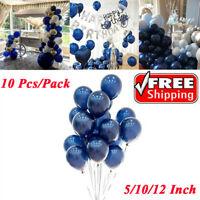 "10Pcs 5/10/12"" Midnight Dark Blue Latex Balloon Birthday Wedding Party Decor"