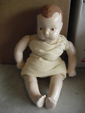 """Modern Porcelain and Cloth Art Doll Baby Character Boy Doll 18"""" Tall"""
