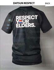 Datsun T Shirt RESPECT YOUR ELDERS XL