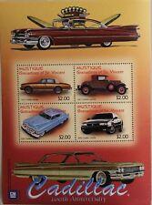 ST VINCENT GRENADINES MUSTIQUE 2003 Klb 22-25 Block 3 Cadillac Cars Autos MNH